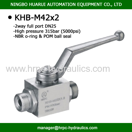 hydraulic oil full port dn25 high pressure steel same as hydac ball valve WOG5000
