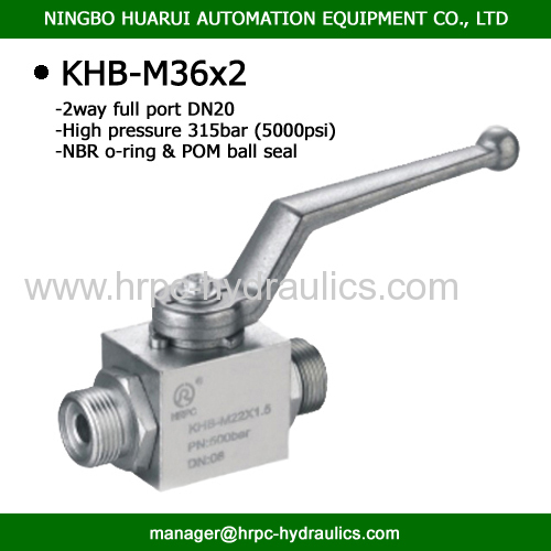 2 way female thread dn20 high presure steel ball valve hydraulic oil WOG5800