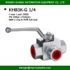 hydraulic steel / stainless steel 3 way ball valves bsp female thread L port high pressure 7250psi