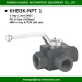 hydraulic oilfield 3 way L port high pressure ball valves npt female thread 5000psi