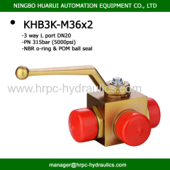 three way L port high pressure ball valve industrial valve hydraulics oilfield WOG5000