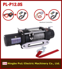 12000lbs/5500kg/5.5ton DC 12 volt electric 4wd/4x4 suvs/off-road winch with synthetic rope
