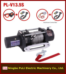 13500lb/6000kg/6ton heavy duty DC 12 volt electric winch with fiber rope