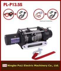 4x4 off road/suvs heavy duty 13500lb/6000kg/6ton DC 12 volt electric winch with synthetic rope