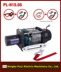 4x4 off road 15000lb/7000kg/7ton heavy weight DC 12 V synthetic rope electric winch maker