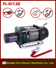 4x4 off road 17000lb/8000kg/8ton DC 12 volt heavy weight synthetic rope electric winch maker