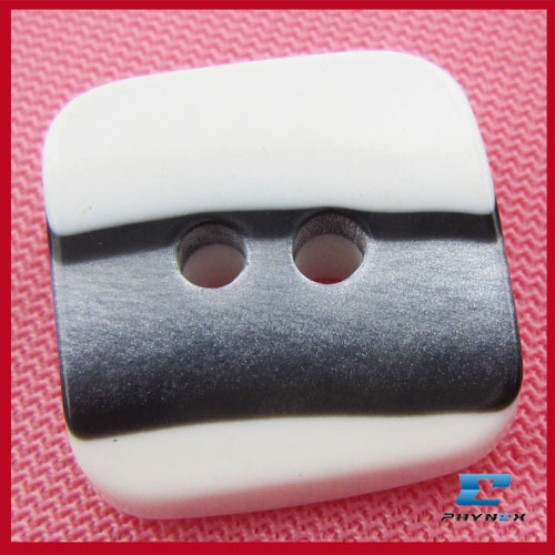 Pearl Square Shell Button, Resin Button