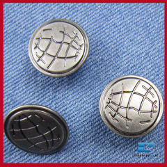 fashion metal earth jeans button for garment