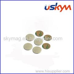 3M adhesive disc ndfeb magnet/disk ndfeb magnet