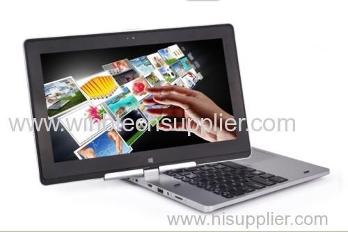 11.6inch 2g ram 500g hdd laptop touch screen 4G RAM 500G HDD Celeron 1037U Dual 1.8 Ghz Win 8 rotating touch laptops