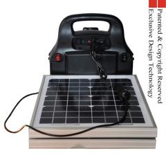 6 in 1 Solar power station Jump starter 20W LED 100W AC inverter 5V1A USB 2*DC12V output