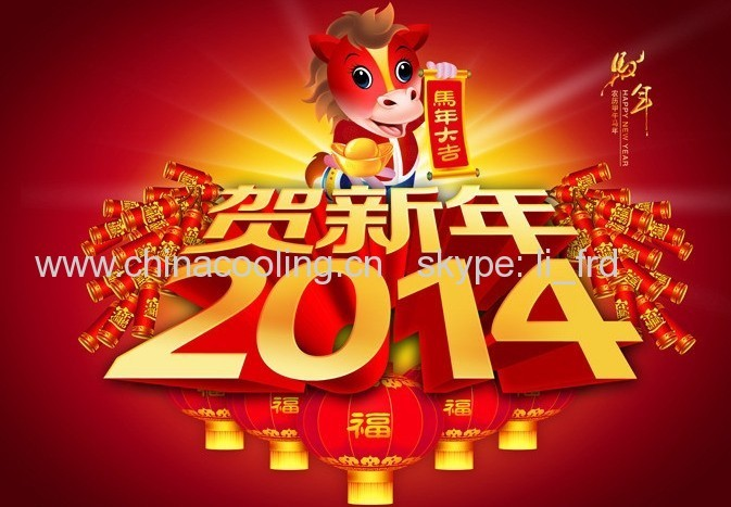 Holiday for Chinese traditional Spring Festival 2014