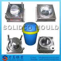 custom plastic rubbish bin mould
