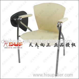elegant fashion PP stacking lecture chair with writing tablet