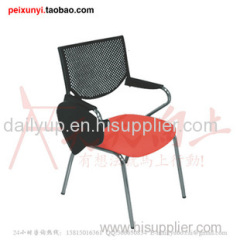 2014 new products plastic lecture chair with oversized tablet multifunction