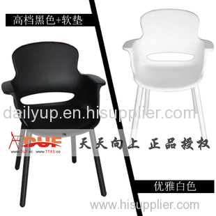 modern fashion PP stacking lecture chair with writing tablet