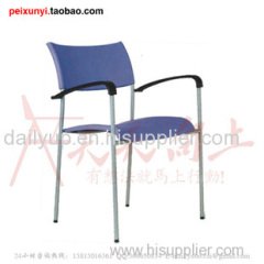 modern elegant fashion PP stacking lecture chair with writing tablet