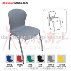 Cheap colorful plastic folding school chair with tablet,reasonable price