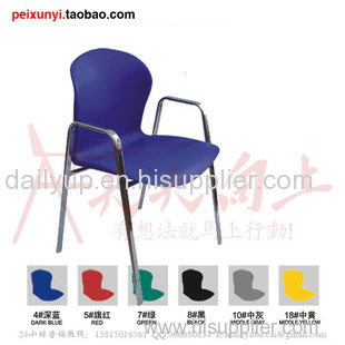 Cheap colorful plastic school chair with writing tablet,reasonable price