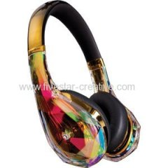 Monster Diamond Tears Edge W/ControlTalk Gold Headband Headphones