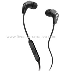 Skullcandy 50/50 2.0 Black Earbud Stereo Headphones with Mic Volume Track Control