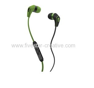 Skullcandy Supreme Sound 50/50 Green Ear Buds w/Mic for iPhone