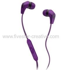 Skullcandy Supreme Sound 50/50 Earbuds MIC Volume Track Control Purple