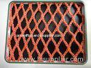 Red PES yarn sea Multifilament Fishing Nets / Knotless Fish Nets for fish pond and set net