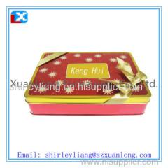 food grade rectangular cookie tin box