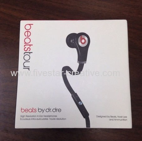 Beats Tour In-Ear Headphones with ControlTalk for iPod iPhone iPad All Black