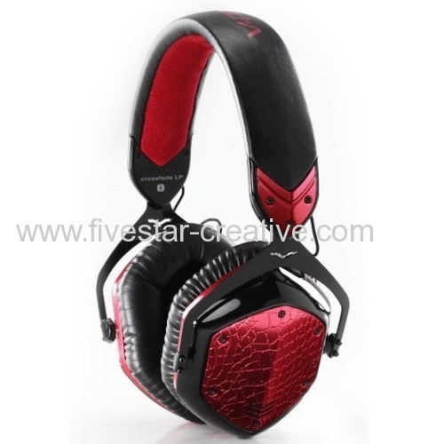 V-Moda Crossfade LP High Performance Over-Ear Noise-Isolating Metal Headphones Rouge Red