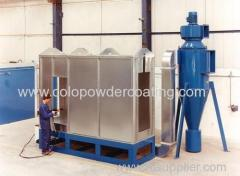 automatic powder coating spraying booth
