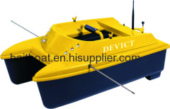 Catamaran bait boat with fishfinder
