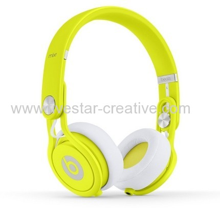 Beats Mixr Headphones On Ear Neon Yellow Limited Edition Dr Dre