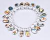 Religion Rosary Plastic Bracelet with Christian Pendant