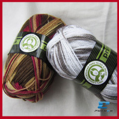 acrylic hand knitting yarn on ball