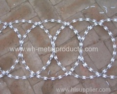 galvanized high tensile flat razor wire coil