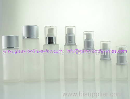 Frost Glass Lotion Bottle With Pump