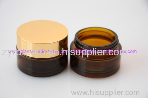 30g Amber Glass Cosmetic Jar With Lid