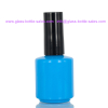 15ml Blue Glass Nail Polish Bottle With Cap And Brush