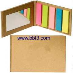Promotional pocket sticky notes set with mirror