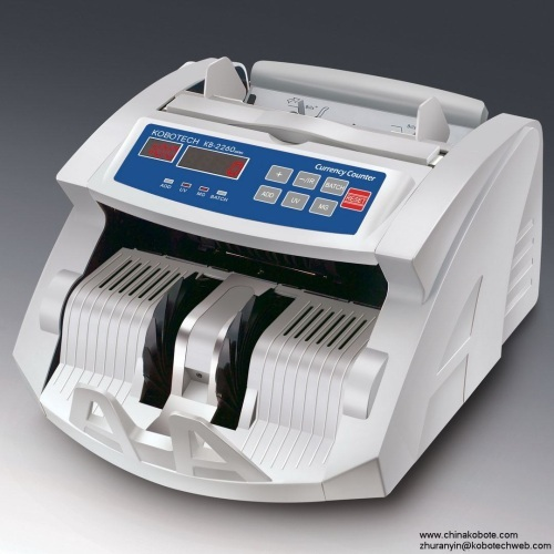 Kobotech KB-2260 Back Feeding Money Counter Currency Note Bill Cash Counting Machine
