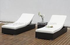 Wicker Chaise Lounge outdoor garden set