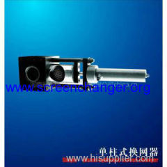 plastic extrusion line-hydraulic screen changer and extrusion mold