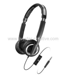 Sennheiser PX200-IIi Closed Noise Isolating Over Ear Headband Headphones W/iPod iPhone iPad 3-button Remote MIC