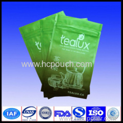 three side sealed aluminum foil packing tea pouch