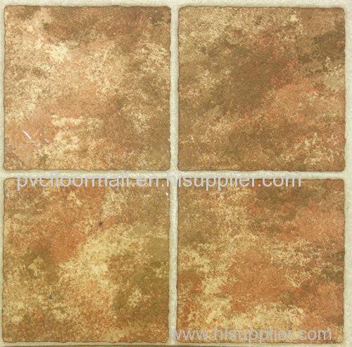 Adhesive backed floor tiles