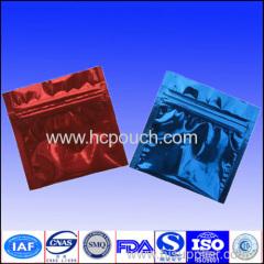 Plastic zip lock laminated aluminum foil pouches