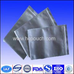aluminum foil pouch with zip lock