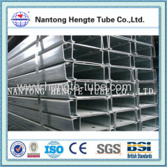 Hot dip galvanized rectangle hollow section steel tube